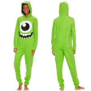 Disney Pixar Monsters, Inc. Mike Hooded Pajamas